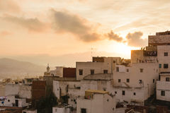 Oude huizen in Tetouan, Marokko Royalty-vrije Stock Afbeeldingen