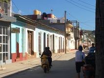 Oude huizen in Trinidad Cuba Stock Afbeeldingen