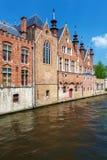 Oude Huizen van Brugse Vrije, Bruge royalty-vrije stock afbeelding