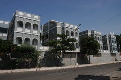 Oude Huizen van Pondicherry-Stad, India royalty-vrije stock afbeelding