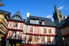 Oude huizen in Vannes Royalty-vrije Stock Afbeelding