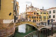Oude huizen in Venetië, Italië Stock Afbeelding