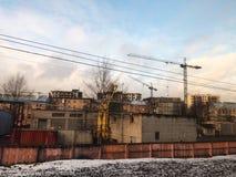 Oude huizen voor de post in Rusland royalty-vrije stock afbeeldingen
