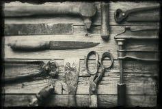 Oude hulpmiddelen Royalty-vrije Stock Foto's