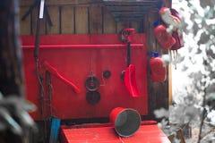 Oude hulpmiddelen voor brandbestrijding stock afbeeldingen