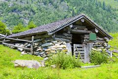 Oude hut royalty-vrije stock afbeelding