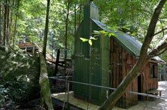 Oude hut in Katoomba Jamison Valley bij Blauw Bergen Nieuw Zuiden W stock foto