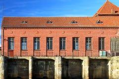Oude hydro-elektrische elektrische centrale Stock Fotografie