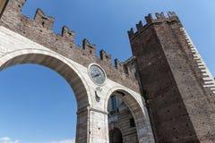 Oude I-portonidella Brà ¡, Verona, Italië Stock Foto's
