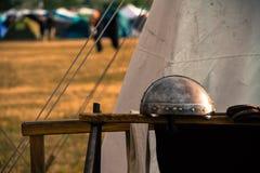 Oude iepreproductie voor Keltisch festival in Montelago Italië royalty-vrije stock afbeelding