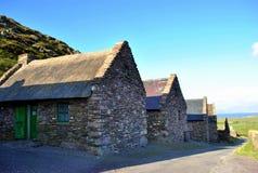Oude Ierse plattelandshuisjes Stock Foto's