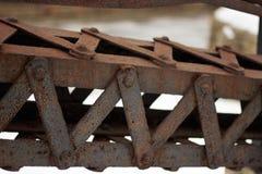 Oude ijzer geroeste metaalstraal royalty-vrije stock foto