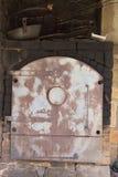 Oude Ijzer Kokende Oven Stock Afbeelding