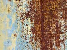 Oude ijzer multi-colored muur Royalty-vrije Stock Afbeeldingen