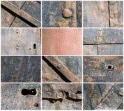 Oude ijzerachtergronden Stock Afbeelding