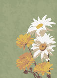 Oude illustratie, van een boeket van bloemen Royalty-vrije Stock Fotografie