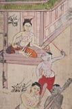 Oude Illustratie van Thailand Stock Afbeeldingen