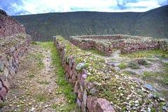 Oude Inca-ruïnes van Rumicucho stock fotografie