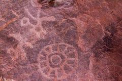 Oude Indische Steentekeningen Royalty-vrije Stock Foto