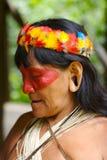 Oude Indische vrouw Royalty-vrije Stock Afbeeldingen