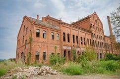 Oude industriële baksteen Stock Foto