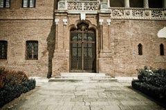 Oude ingang aan het Paleis Mogosoaia van Roemenië Royalty-vrije Stock Fotografie