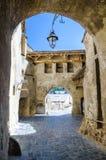 Oude ingang in de citadel van Sighisoara Royalty-vrije Stock Afbeelding