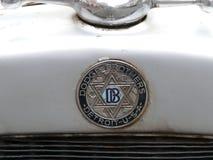 Oude insignes van een Dodge-Broersauto, Lima Stock Afbeeldingen