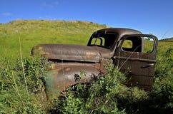 Oude Internationale bestelwagencabine Stock Foto's