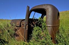 Oude Internationale bestelwagencabine Stock Afbeeldingen