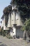 Oude Istanboel huizen stock fotografie