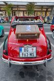 Oude Italiaanse auto Fiat 500c Topolino stock afbeelding