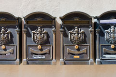 Oude Italiaanse brievenbussen Stock Fotografie