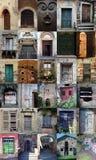 Oude Italiaanse deuropeningen Royalty-vrije Stock Foto