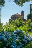 Oude Italiaanse kerk Royalty-vrije Stock Foto