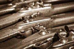 Oude jachtgeweren Stock Afbeelding