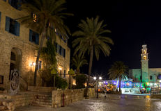 Oude Jaffa bij nacht. Israël royalty-vrije stock fotografie