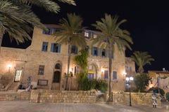 Oude Jaffa bij nacht. Israël Royalty-vrije Stock Foto