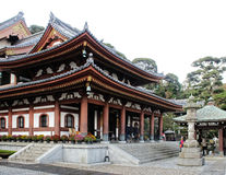 Oude Japanse tempel Stock Foto's