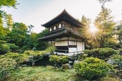 Oude Japanse tempel in Kyoto, artistieke interpretatie Stock Foto's