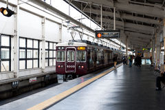 Oude Japanse trein Stock Afbeeldingen