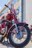 Oude jawa rode motorfietsen Cheboksry, Rusland, 05/09/2019 stock fotografie