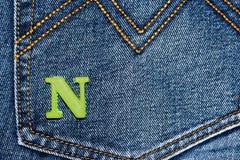 Oude jeans Royalty-vrije Stock Fotografie