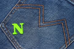 Oude jeans Stock Foto's