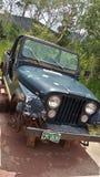Oude jeep Royalty-vrije Stock Afbeeldingen