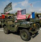 Oude Jeep twee Royalty-vrije Stock Foto's