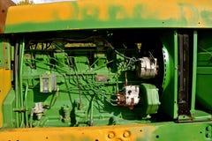 Oude John Deere-tractoren stock foto's