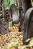 Oude Joodse begraafplaats Stock Foto