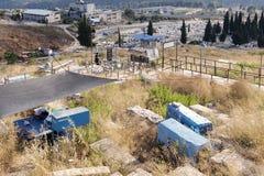 Oude Joodse begraafplaats Stock Foto's