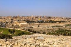 Oude Joodse begraafplaats. Jeruzalem Royalty-vrije Stock Foto